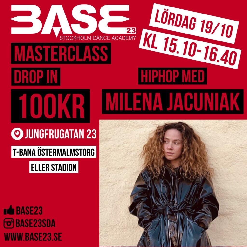 MILENA JACUNIAK - Masterclass på BASE23 19 oktober 2019